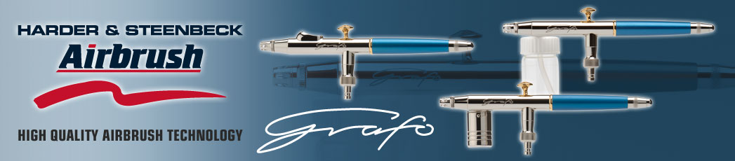 Harder /& Steenbeck GRAFO T3 side feed automatic airbrush
