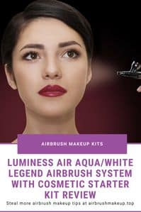 luminess air aqua white legend airbrush system with cosmetic starter kit review