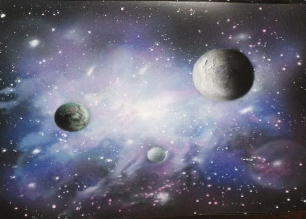 Galaxy Airbrush Painting