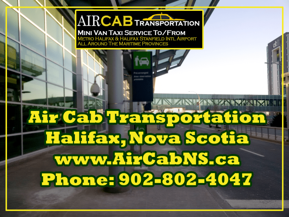 Halifax Airport Cab Pickup area
