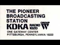 1020 Pittsburgh KDKA Westinghouse