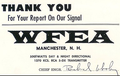 Bob Wheeler, 1370 WFEA Manchester NH | August 9, 1982