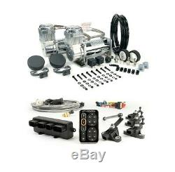 Accuair E-level Kit + Viair 400c Dual Chrome Compressors