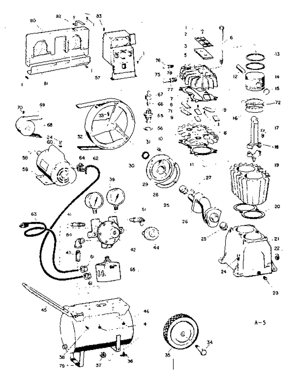 Sears Craftsman Air Compressor Parts 106.154580