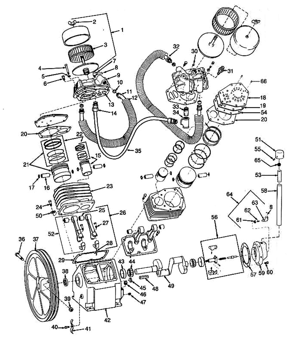 medium resolution of antiques and collectibles quincy compressor phaserefurbisheditemhere source ingersoll rand 185 air compressor wiring diagram devilbiss air compressor