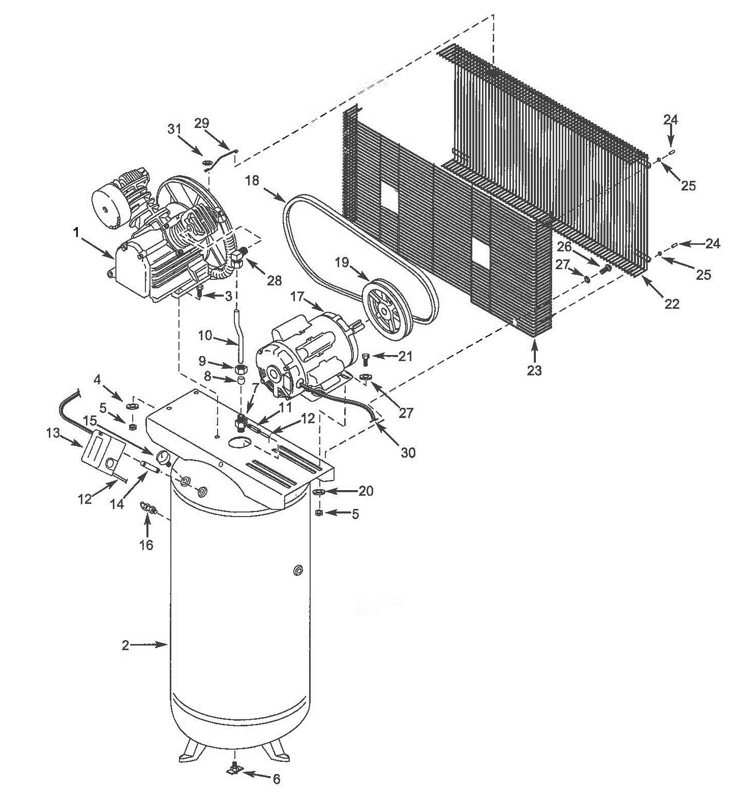 hight resolution of 5z628d two stage air compressor parts schematic