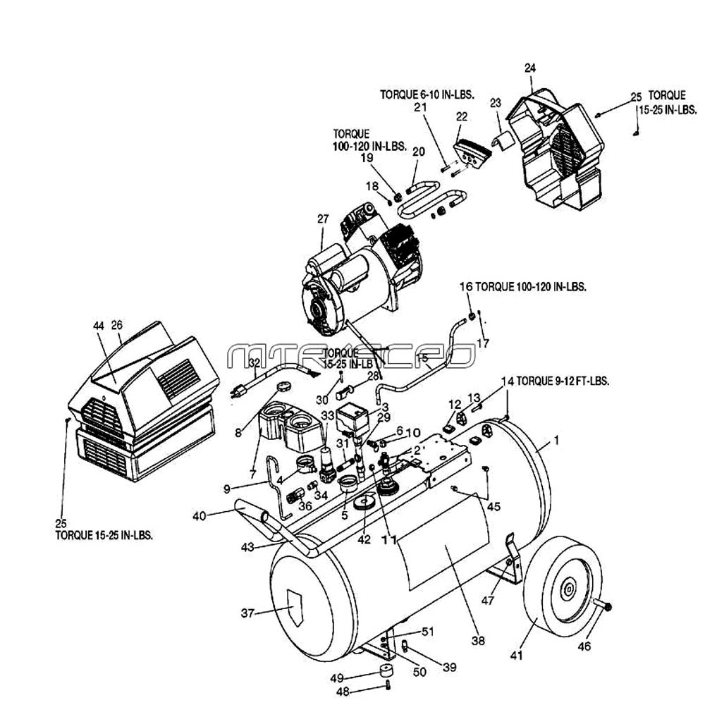 medium resolution of 919 167790 air compressor parts schematic