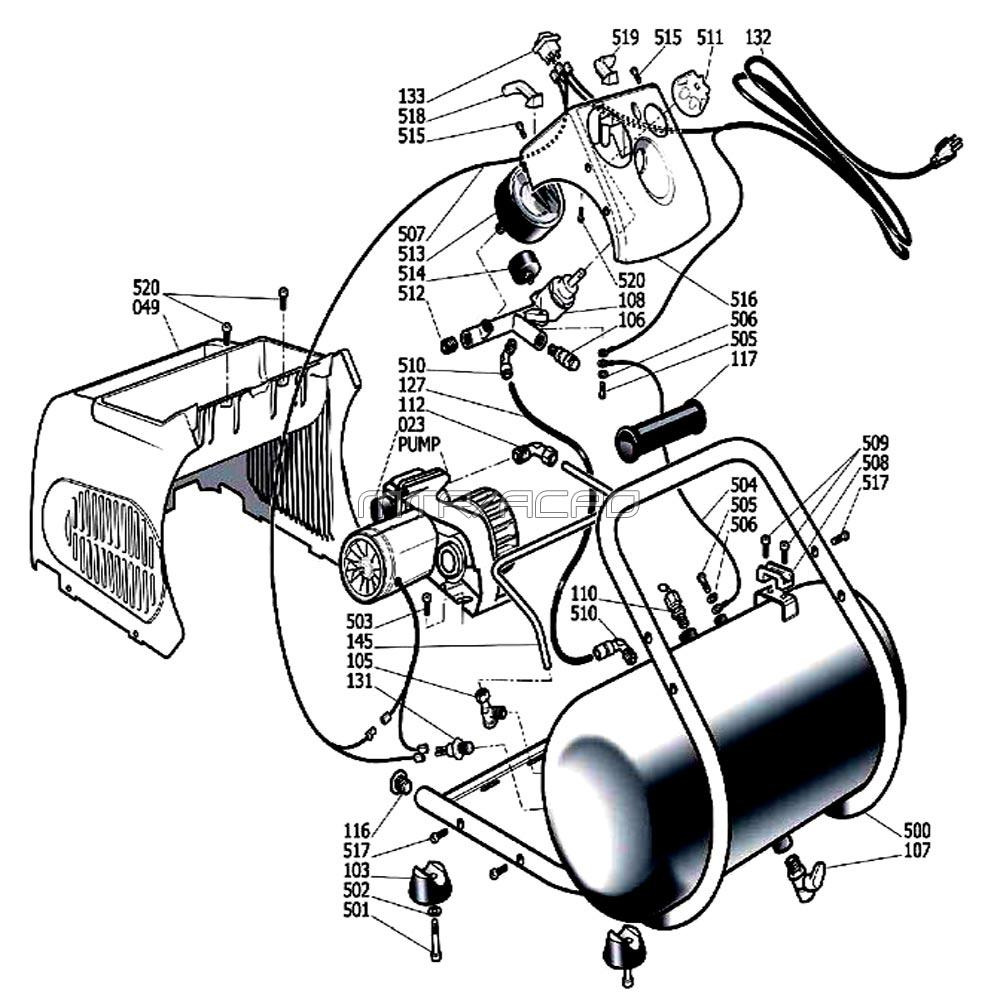 hight resolution of h1503tp air compressor parts schematic