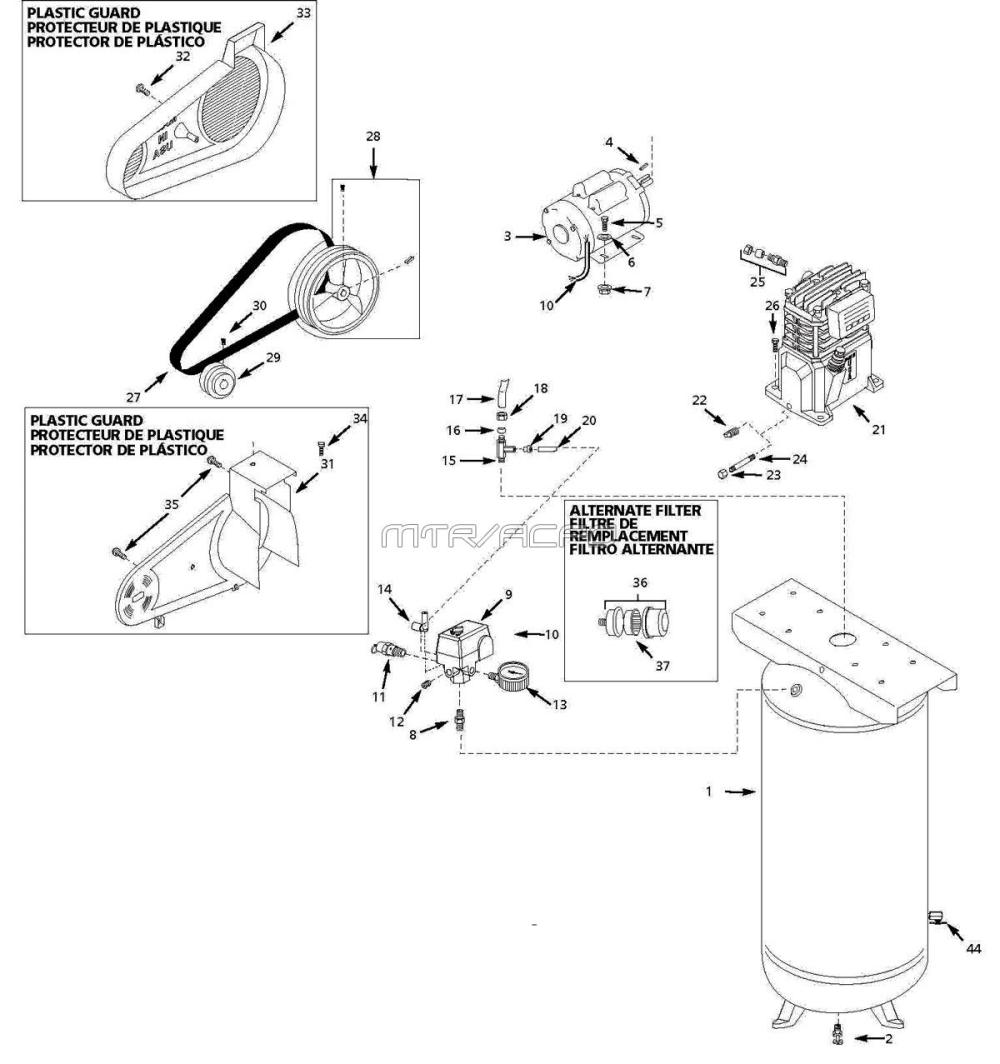 medium resolution of husky vt631403aj air compressor parts husky mower parts diagram husky air pressor wiring diagram