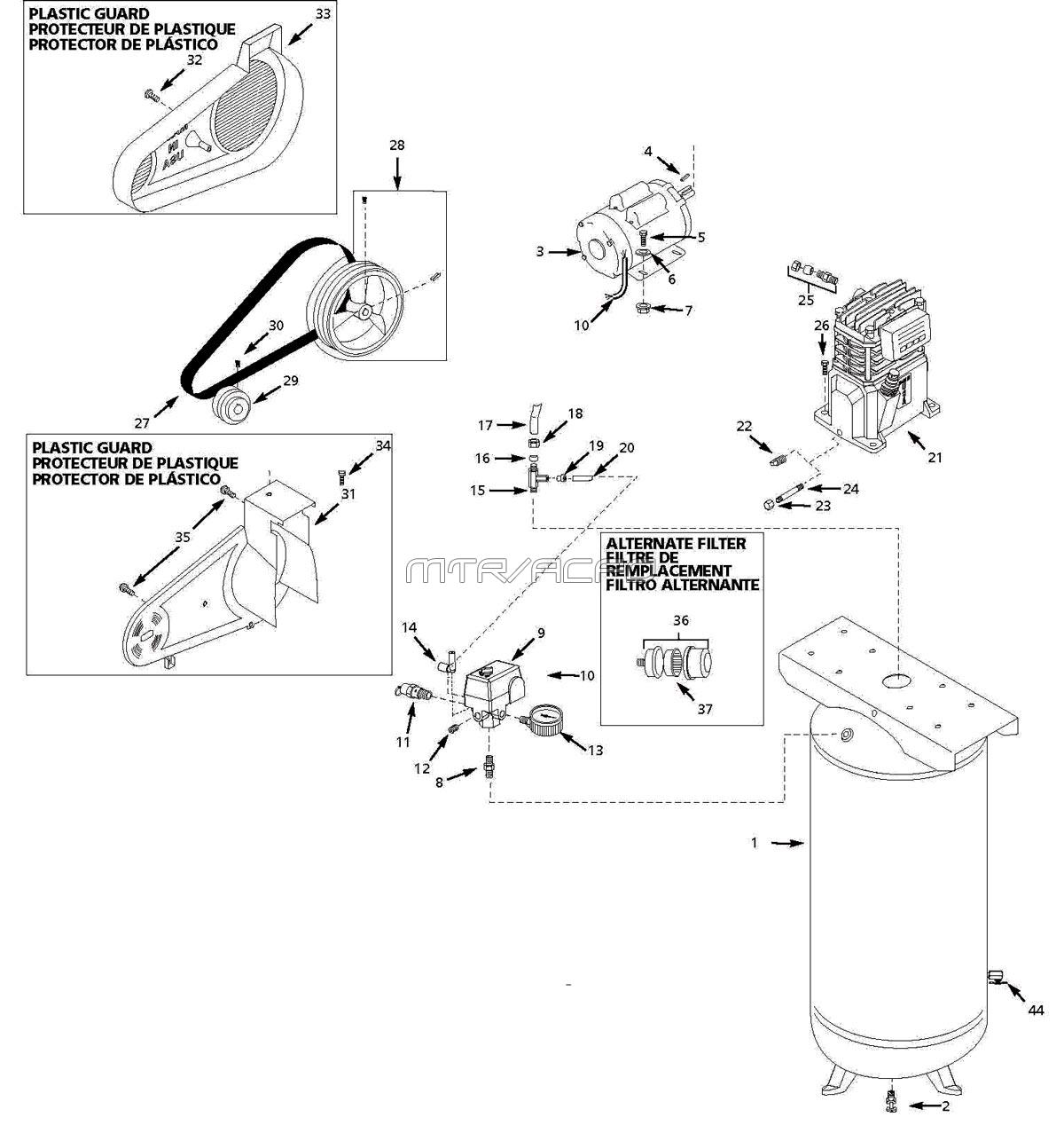 hight resolution of husky vt631403aj air compressor parts husky mower parts diagram husky air pressor wiring diagram