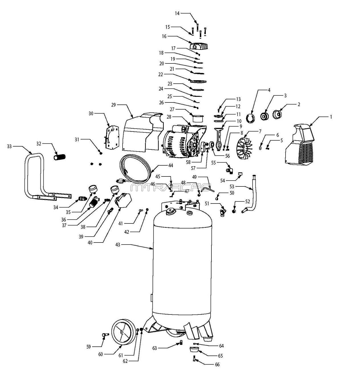 Husky E103774 Air Compressor Parts, Husky Parts