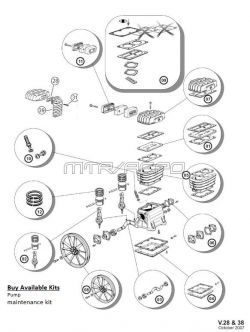 BelAire B2800, B3800, NS18S & 4116091337 Air Compressor Parts