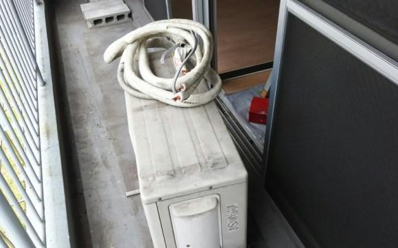 広島市中区西白島で引っ越しのためのエアコン回収