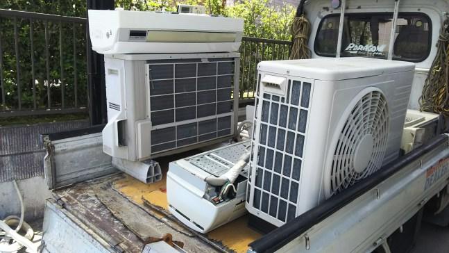 エアコン回収と液晶テレビの回収
