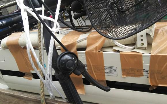 外取りし済みエアコン、放置自転車回収