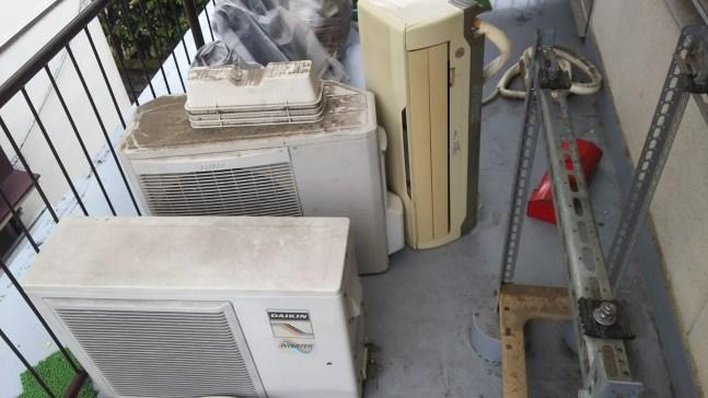 西区、引っ越し前のエアコン、不用品回収