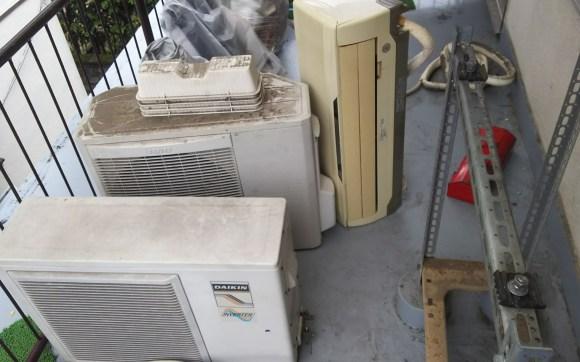 西区引っ越し前のエアコン、不用品回収