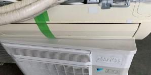 買い替えの為、取り外したエアコン回収