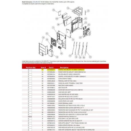 FUJITSU K9709900017 CONTROL PCB 48RLXFZ1 HY K09CM-1200HUE