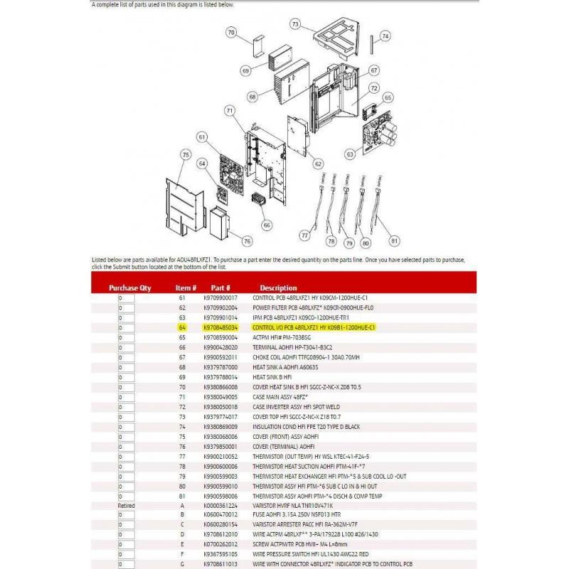 FUJITSU K9708485034 CONTROL I/O PCB 48RLXFZ1 HY K09B1