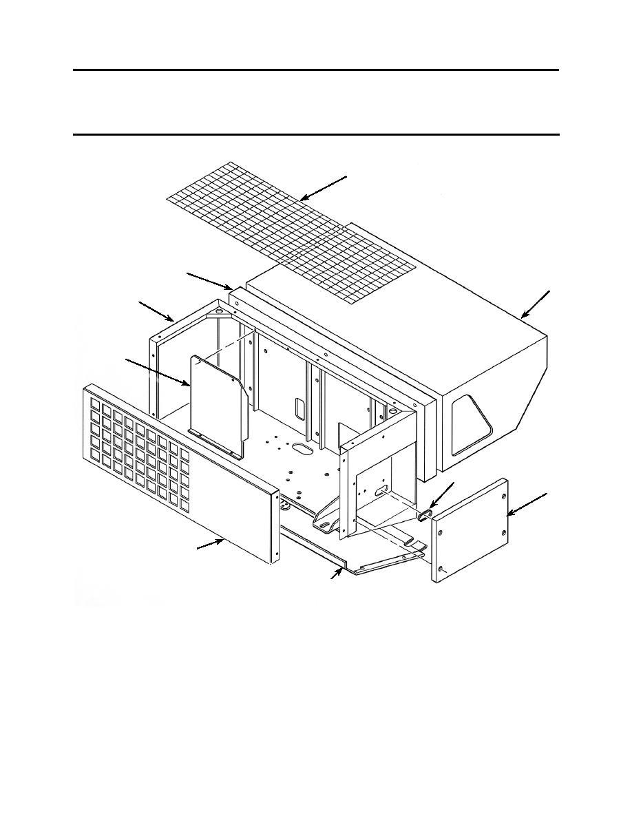 Figure 12. ADR-300 Refrigerator Enclosure Components.