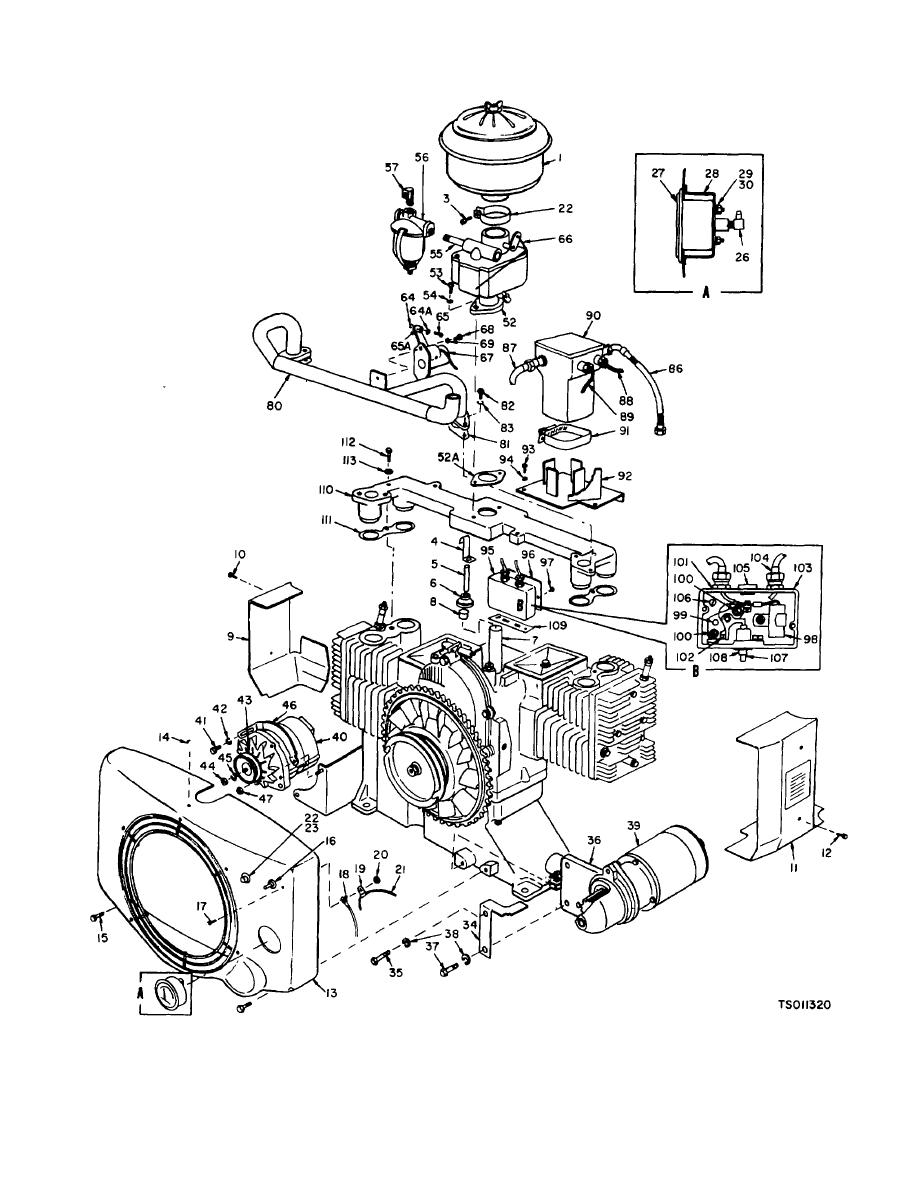 Figure 3-11. Engine Exploded View (Sheet 1 of 3) (Model