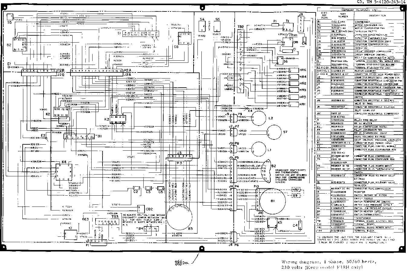 chiller starter wiring diagram