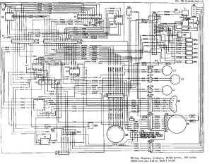 figure 172 wiring diagram, 3 phase, 5060 hertz, 208 vollts