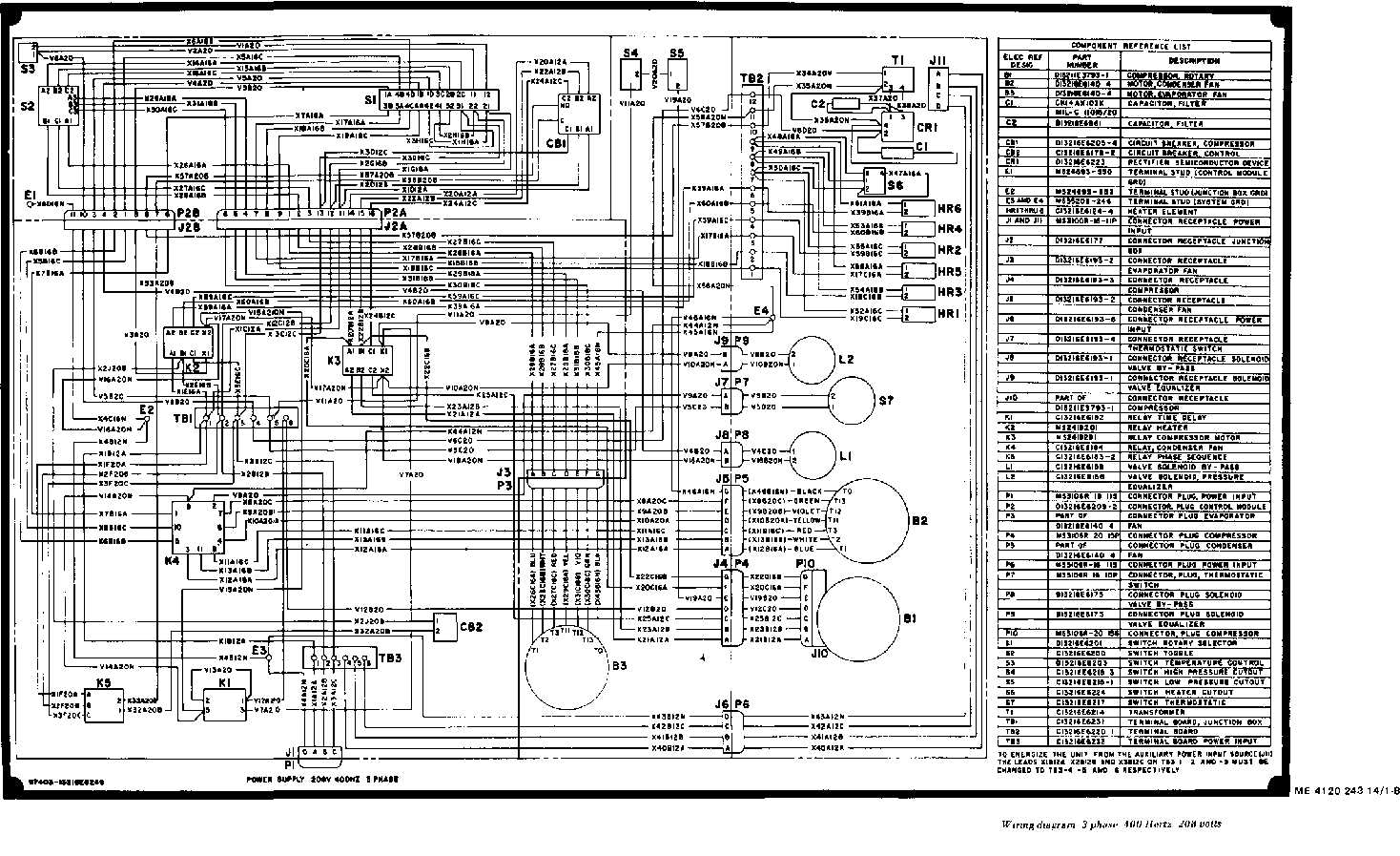 single phase 220 volt wiring diagram pioneer deh p400ub 208 volts diagrams get free