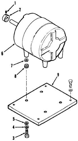 Figure 4-13. Condenser fan motor and mounting plate, exploded
