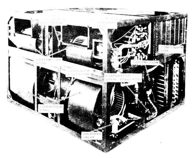 Figure 3. Air Conditioner, Right Front View, Panels Removed.