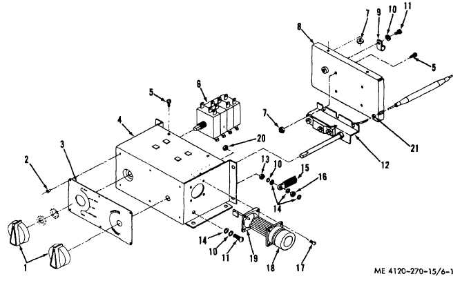 Figure 6-1. Control panel, exploded view