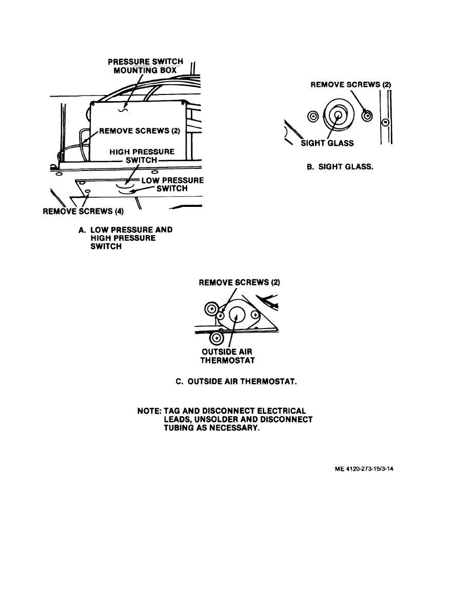 Figure 3-14. High pressure switch, low pressure switch