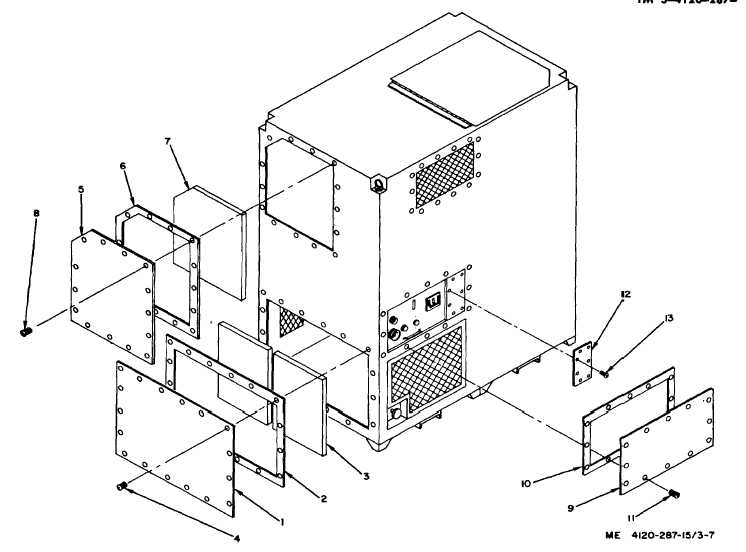 Figure 3-7. Front and left-side panel assemblies, exploded