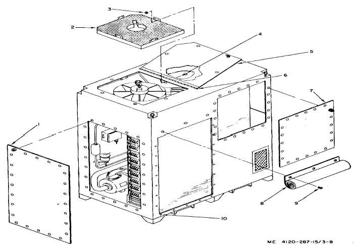 Figure 3-8. Air conditioner right-side and rear panel