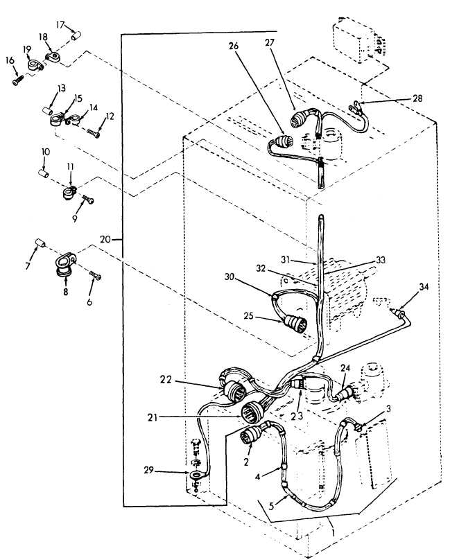 Figure 17. Wiring Harness and Clamp
