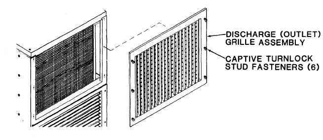 CONDITIONED AIR DISCHARGE (OUTLET) GRILLE ASSEMBLY