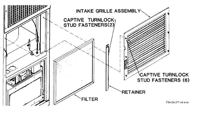 Figure 4-41. Intake Grille and Filter