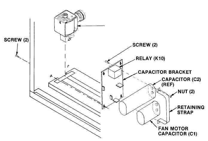 Figure 4-49. Compressor c. Removal Motor Run Capacitor (C2)