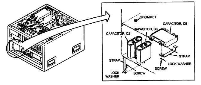 Figure 5-18. Capacitors C2, C3, and C5 (Single Phase)