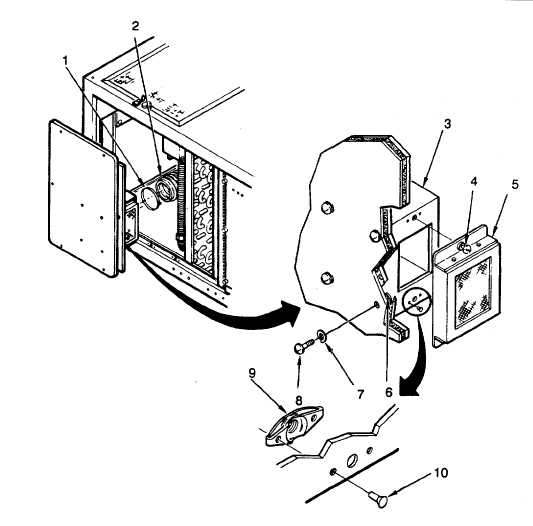 Figure 4-28. Fresh Air Inlet Filter Box (Evaporator Front