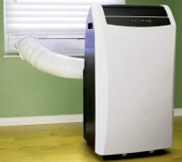 portable air conditioner with vent hose window kit