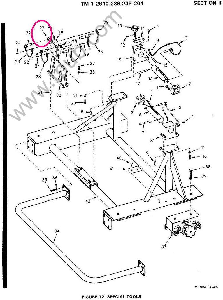 1730-01-500-0738 Cradle, Ground Handling Equipment