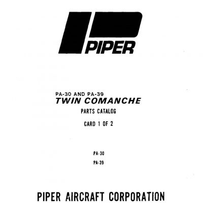 Piper PA-30 & PA-39 Maintenance & Parts Manuals Archives