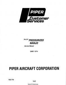 Piper Pressurized Navajo Service Manual PA-31P Part # 753