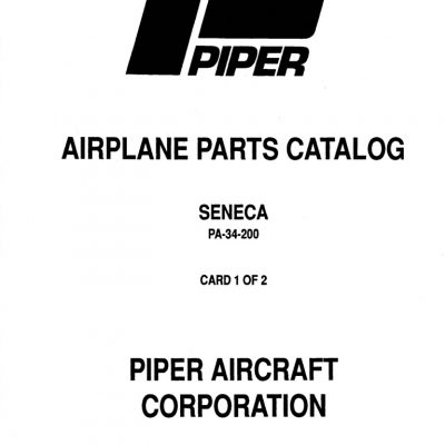 Piper Lance II Service Manual PA-32RT-300/300T Part # 761