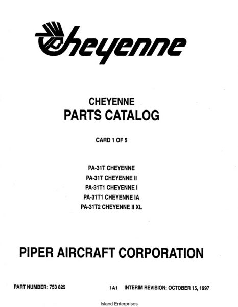 Piper Cheyenne PA-31T Cheyenne/II, PA-31T1 Cheyenne I/IA