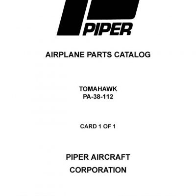 Piper Arrow IV Parts Catalog PA-28RT-201 & PA-28RT-201T