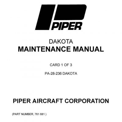Cessna Model 200 Series 1966 thru 1968 Service Manual 1968