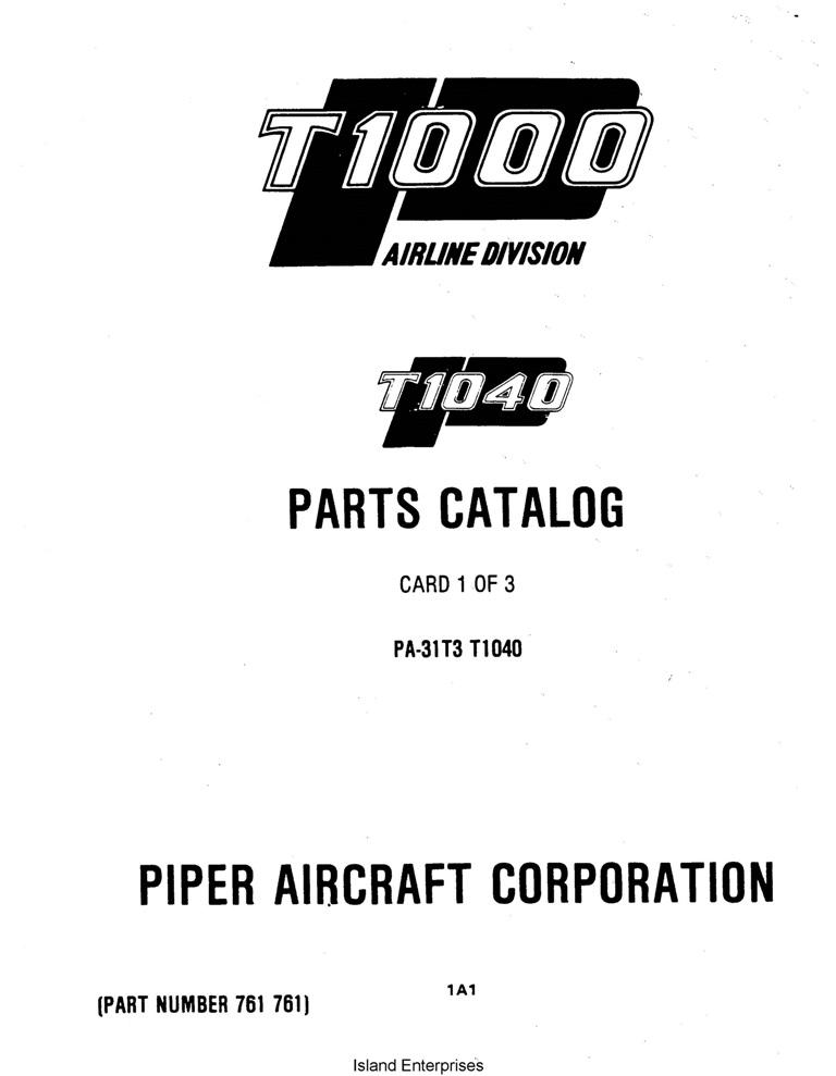 Piper Commuter Liner Parts Catalog PA-31T3 T1040 Part